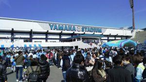 ヤマハスタジアム(磐田):第1ゲート前のジュビロ広場