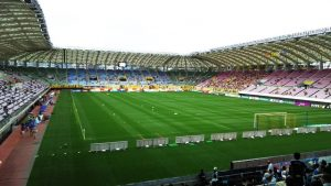 アウェイ側ゴール裏|ユアテックスタジアム仙台