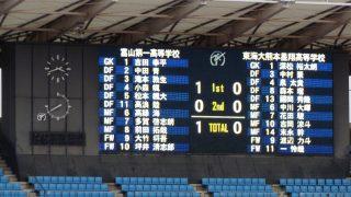 試合結果 富山第一 1-0 東海大星翔|第96回全国高校サッカー選手権大会