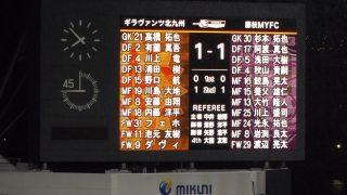 試合結果|北九州 1-1 藤枝