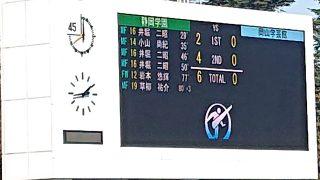 試合結果|静岡学園 6-0 岡山学芸館