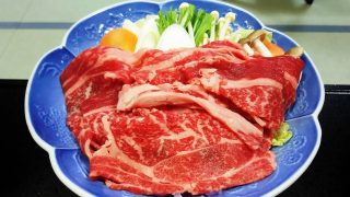 夕食の霜降り牛 かみのやま温泉 別館ふじや旅館<山形県>