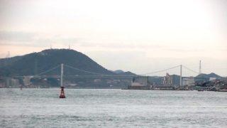 宿の海側から眺める関門海峡|照葉スパリゾート門司店(旧Moji Portホテル)