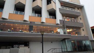 ホテルの外観(海側から)|照葉スパリゾート門司店(旧Moji Portホテル)